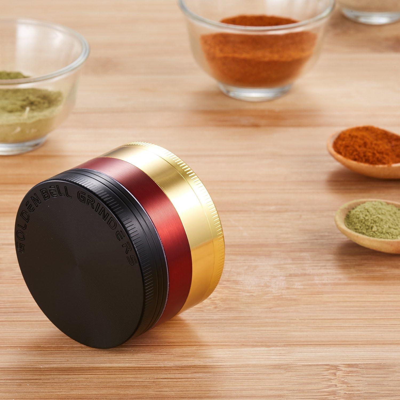 LIHAO Pollen Grinder Crusher f/ür Spice,Kr/äuter,Gew/ürze,Herb,Kaffee 4-teiliges Set mit Pollen Scraper Antike Silbrig