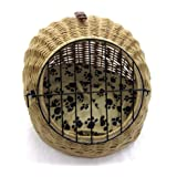 Easipet Wicker Carrier/Igloo for cat or small pet with removable soft Cushion by (578)