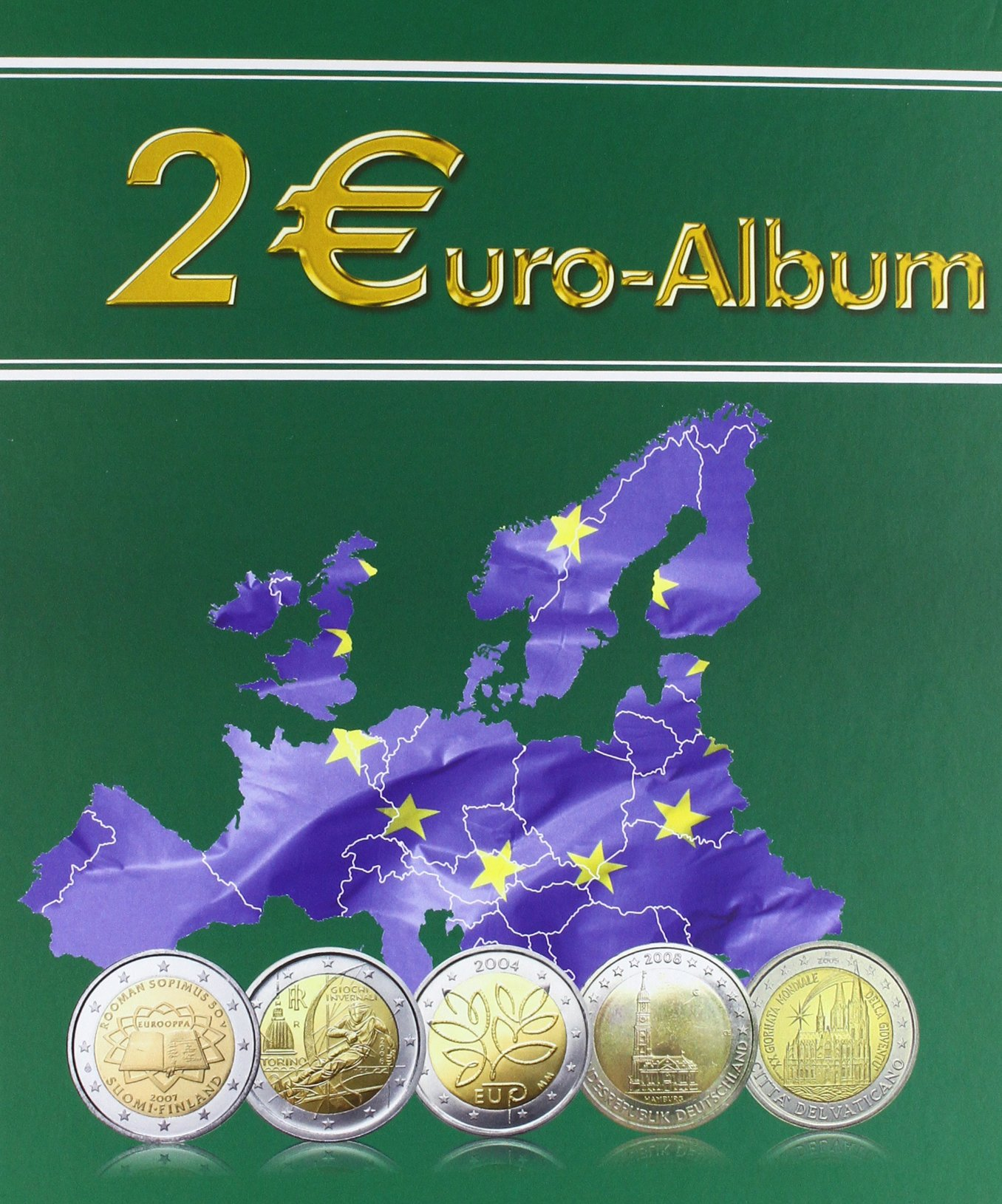 2 Euro Sammelbuch Mit 2 Euro Sammelalbum Amazonde Sebastian