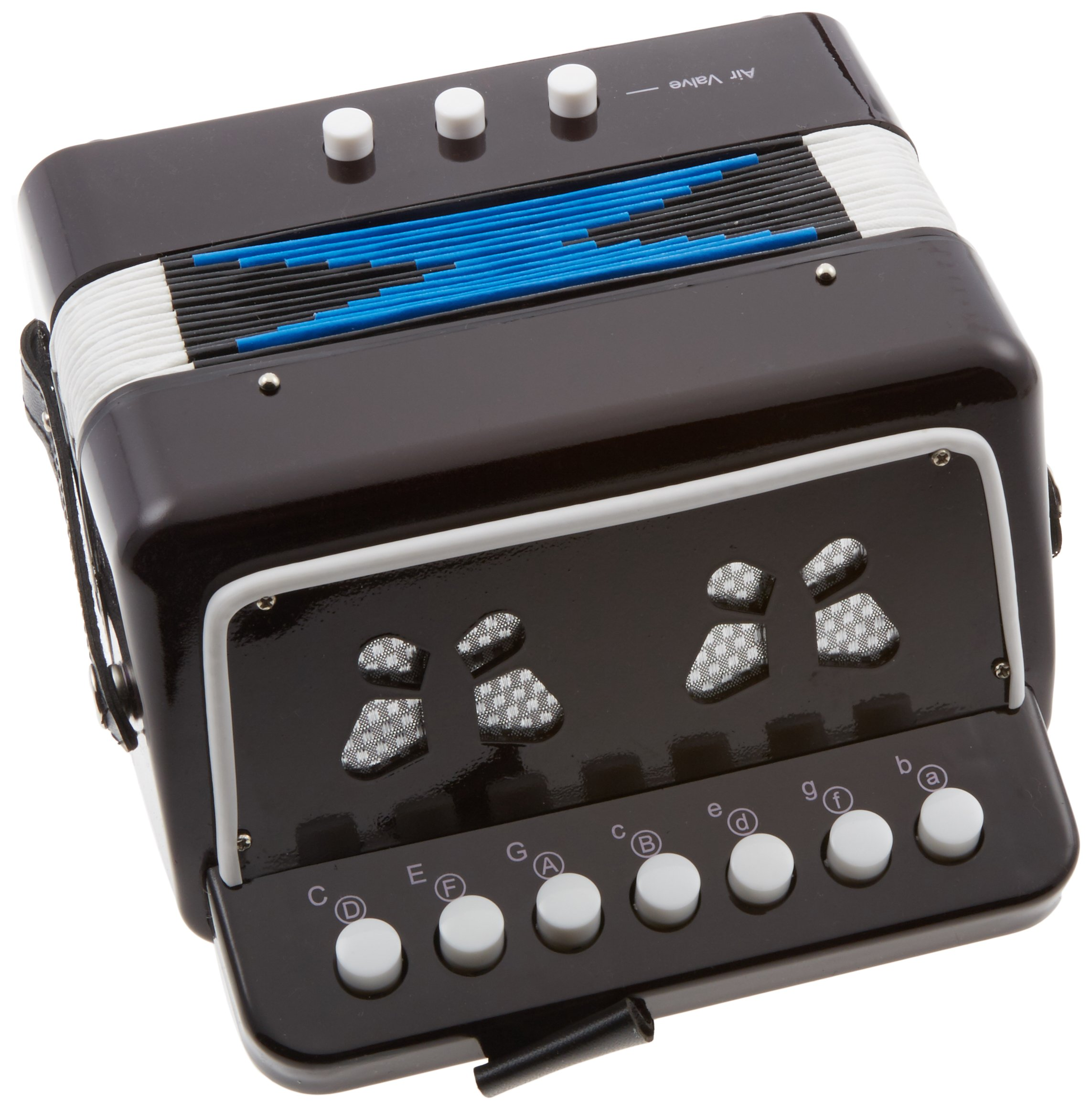 SKY Accordion Black Color 7 Button 2 Bass Kid Music Instrument Easy to PlayGREAT GIFT by Sky (Image #1)