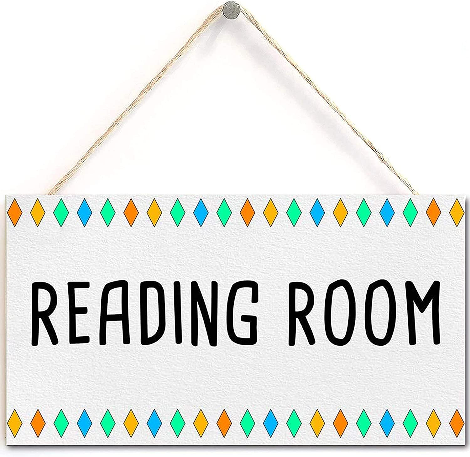 i Reading Room - Library or Quiet Place Door Wall Sign Gift for Book Lovers,Book Worm,Librarian (5 'X 10')