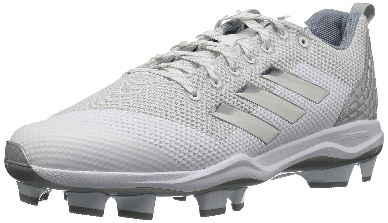 adidas Performance メンズ PowerAlley 5 TPU B01MT1B0RZ 10 Medium US|White/Metallic Silver/Light Grey White/Metallic Silver/Light Grey 10 Medium US