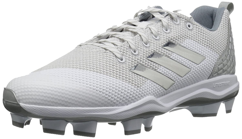 adidas Men's Freak X Carbon Mid Baseball Shoe, FTWR White, Silver met, Light Grey, 9 M US B39211