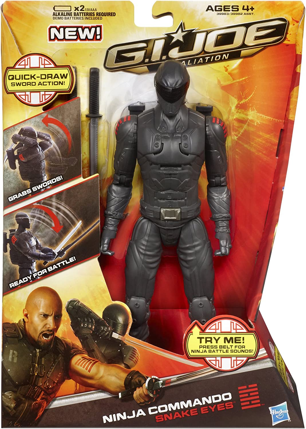 GI Joe Retaliation Ninja Commando Snake Eyes Figure