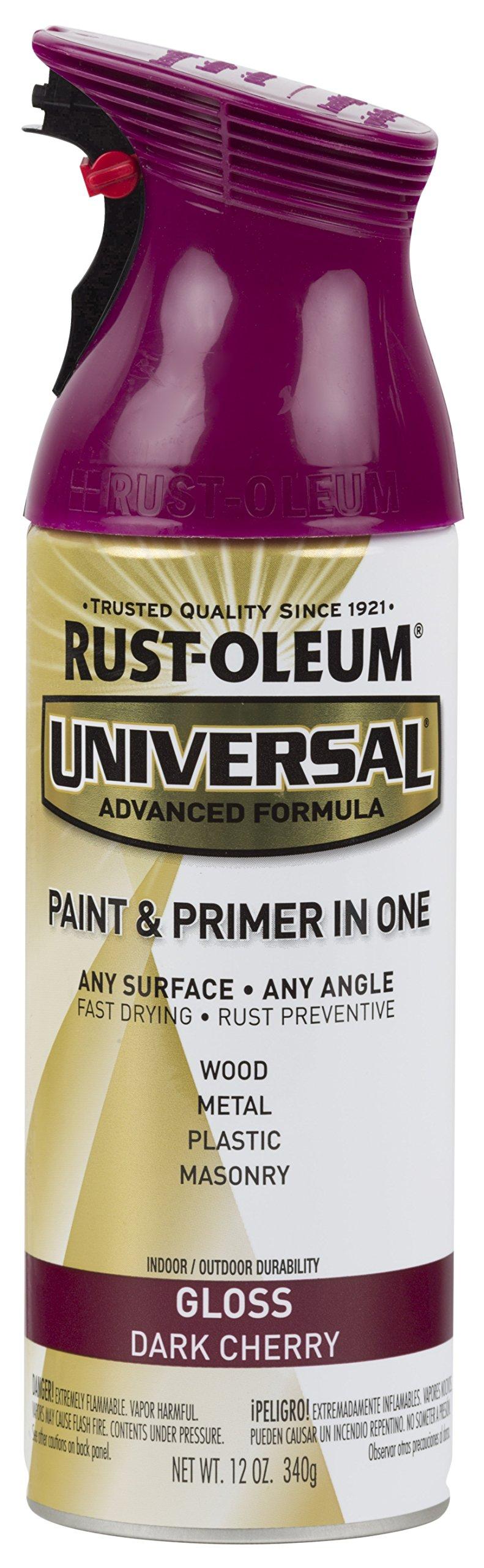 Rust-Oleum 284959-6PK Universal All Surface Spray Paint, 6 Pack, Gloss Dark Cherry