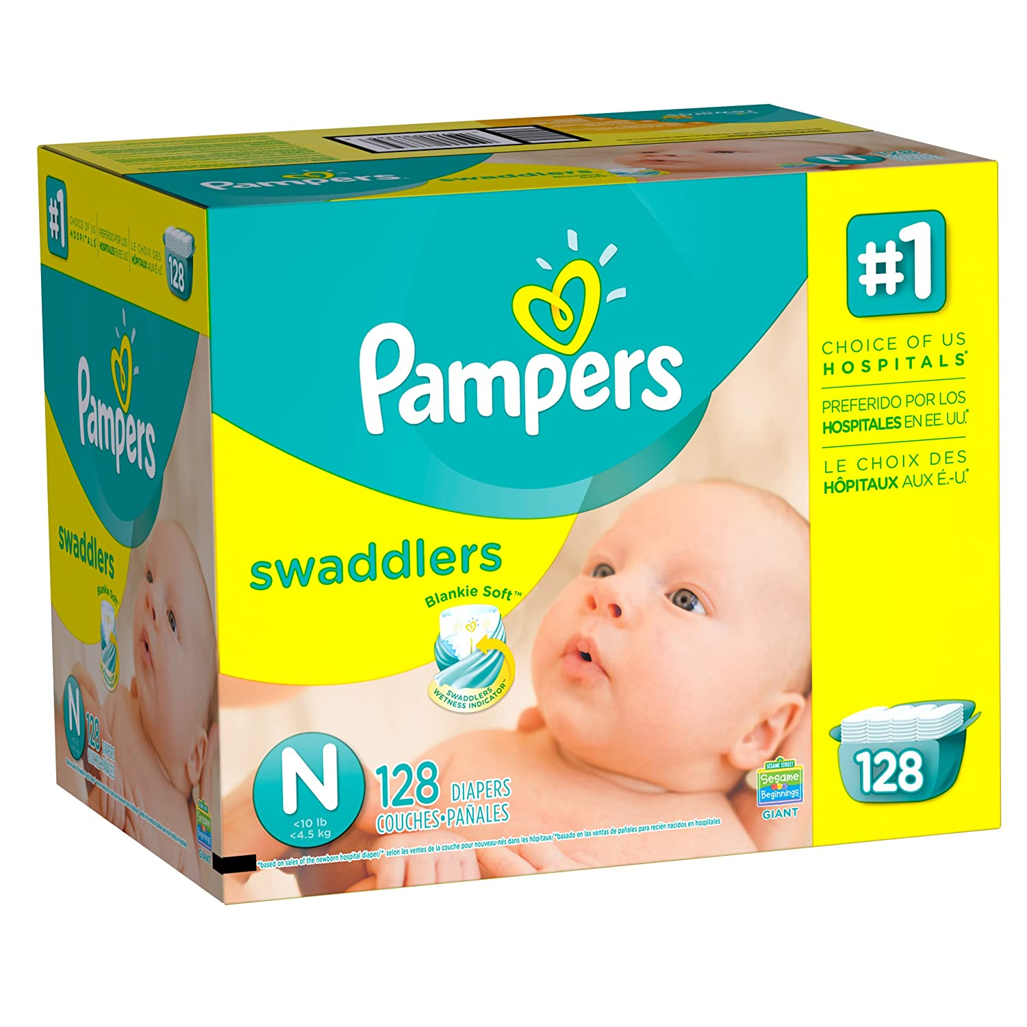 Pampers Swadlers size N P&G NA
