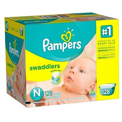 Pampers Swaddlers Pañales Unisex, Recién Nacido, Paquete de 128 ...