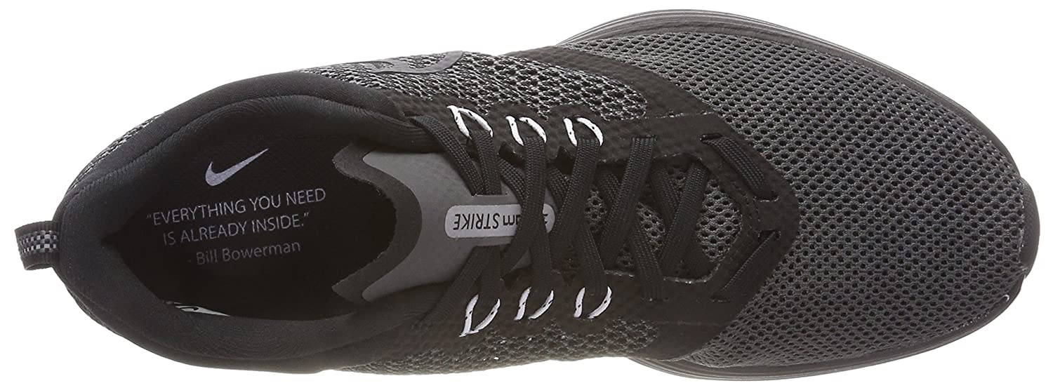 NIKE Women's Zoom Strike Running Shoe B0728538XR 11 M US|Black/White Dark Grey
