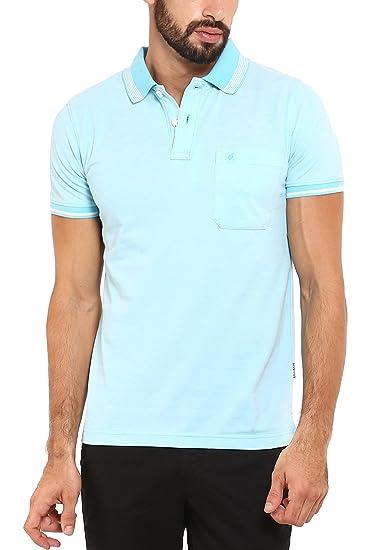 ad2f4cc67cfd Classic Polo Men's Cotton Rich Half Sleeve T-Shirt (Light Blue, ...