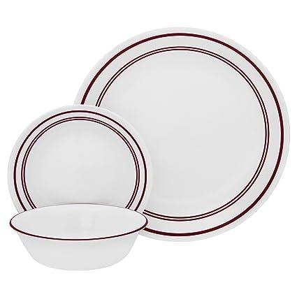 Corelle 18 Piece \u0026quot;Classic Cafe Red\u0026quot; Livingware Dinnerware ...  sc 1 st  Amazon.com & Amazon.com | Corelle 18 Piece \