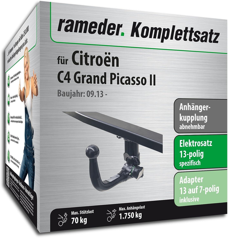 rameder Juego completo, remolque extraíble + 13POL Elektrik para Citroën C4 Grand Picasso II (113342 - 11572 - 2): Amazon.es: Coche y moto