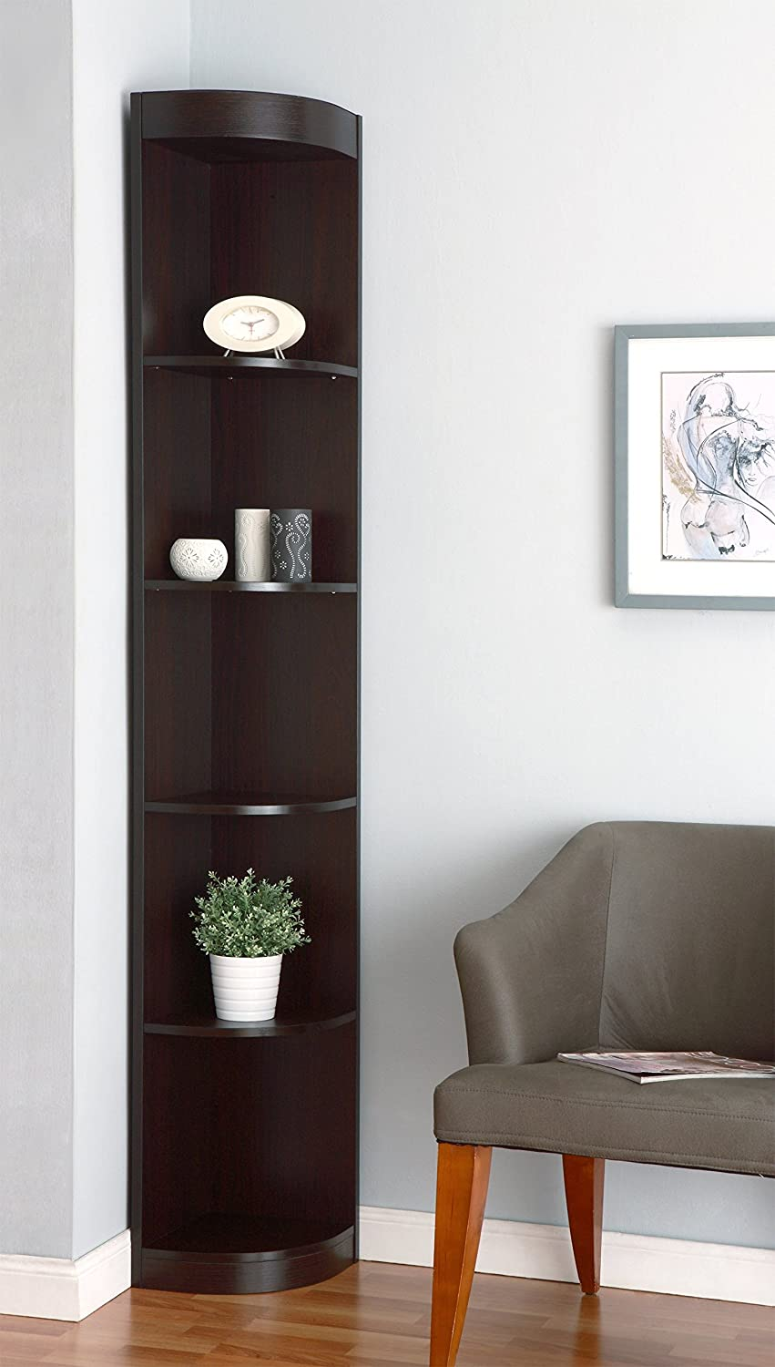 corner furniture piece. Amazon.com: IoHOMES Tango 5-Shelves Corner Display Stand, Cappuccino: Kitchen \u0026 Dining Furniture Piece R