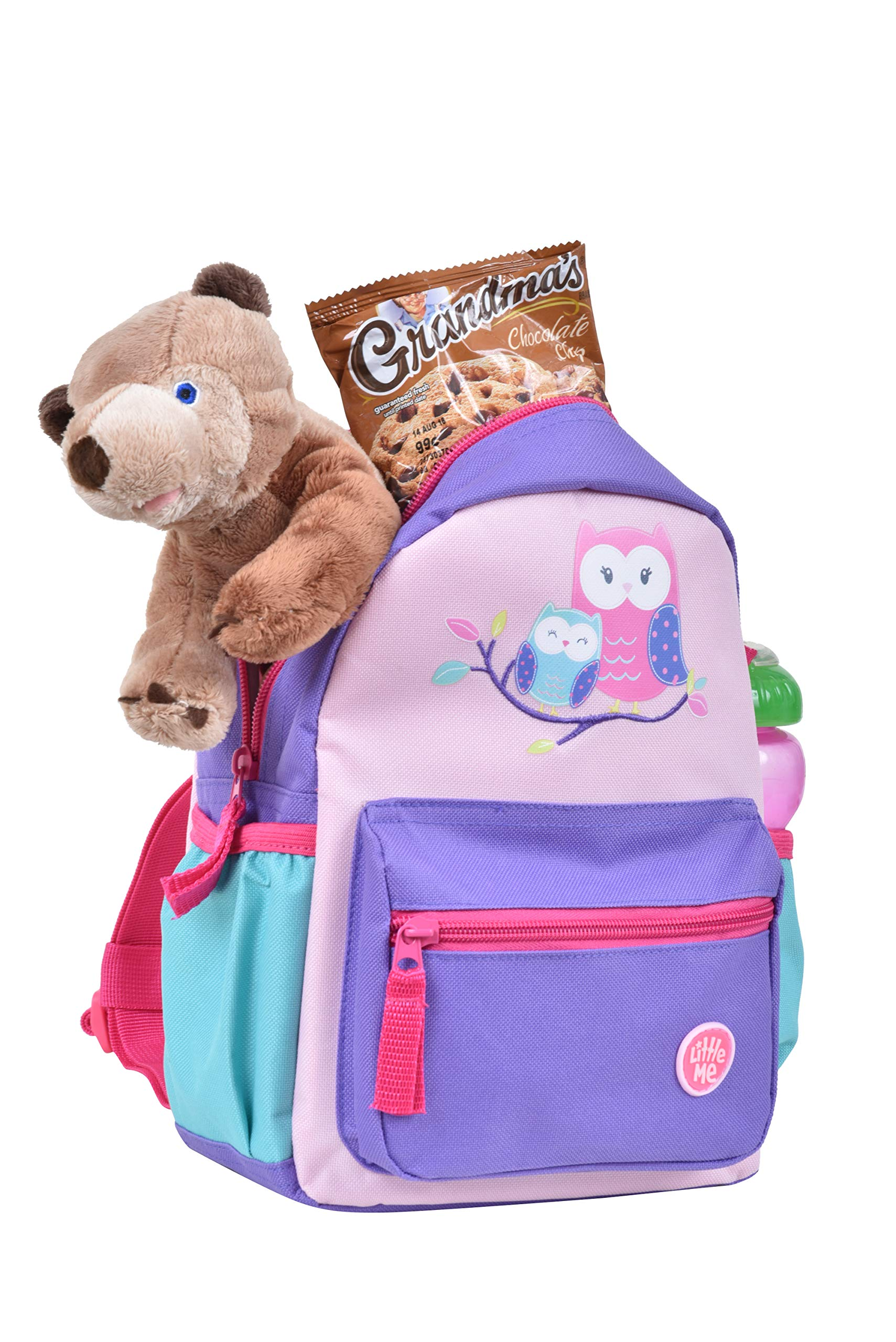 Little Me Owl Backpack with Safety Harness Leash, Child Baby Toddler Travel