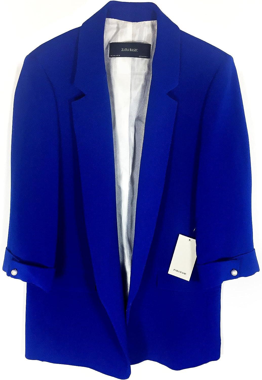 Zara - Chaqueta de Traje - para Mujer Azul L: Amazon.es: Ropa y ...