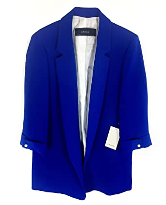 Zara - Chaqueta de Traje - para Mujer Azul L: Amazon.es ...