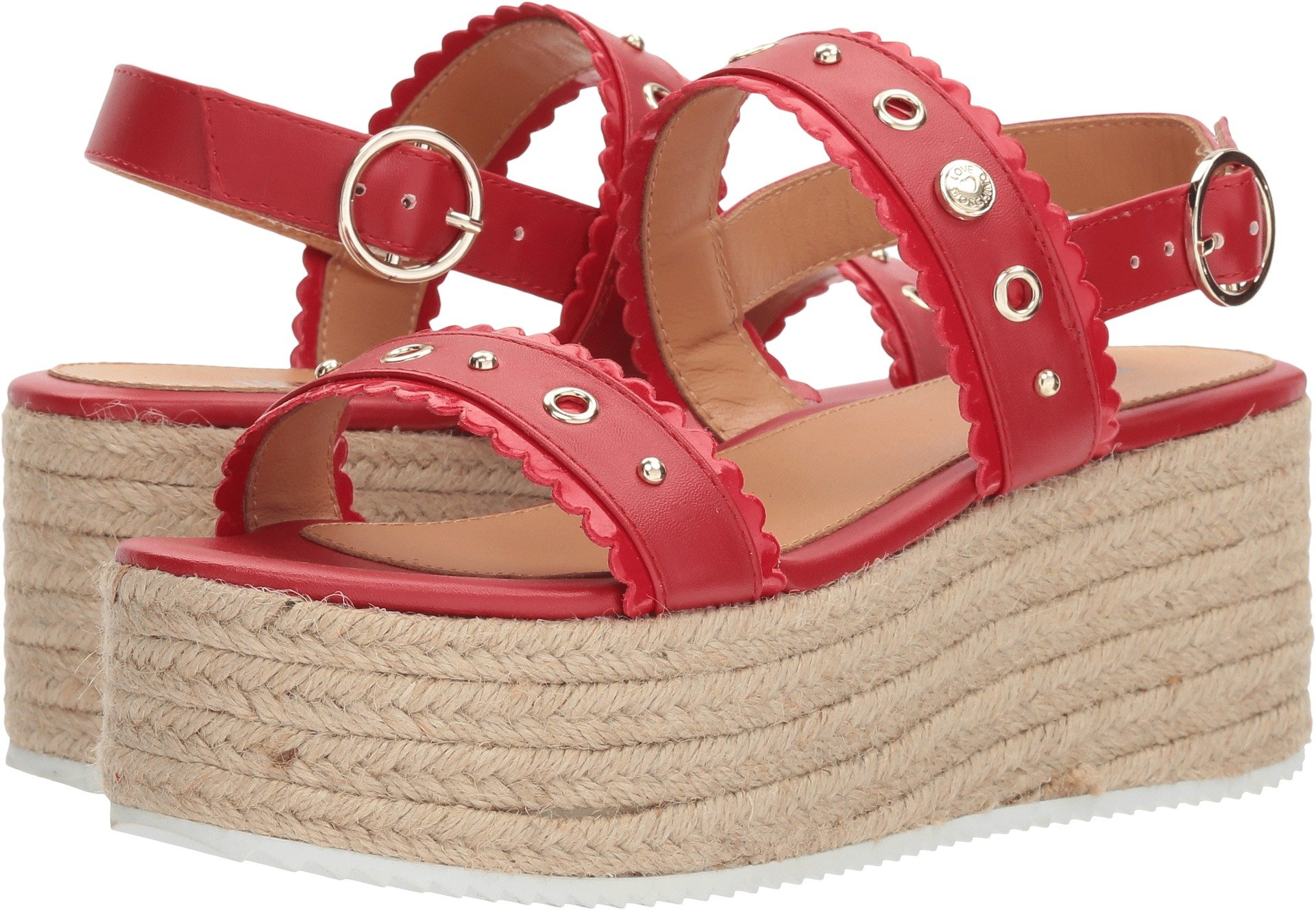 Love Moschino Women's Platform Sandal Red 39 M EU