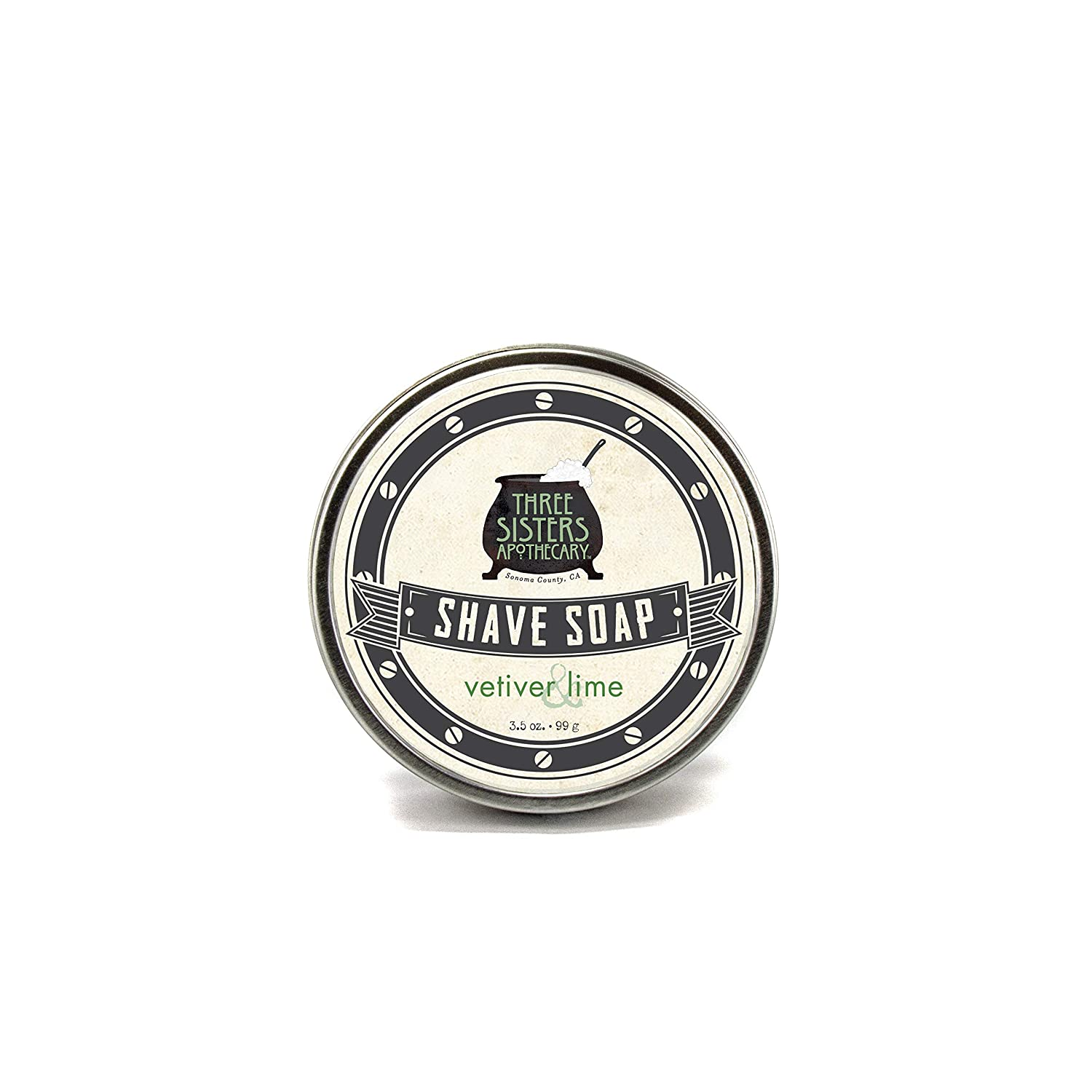 Three Sisters Apothecary Shave Soap Vetiver & LIme