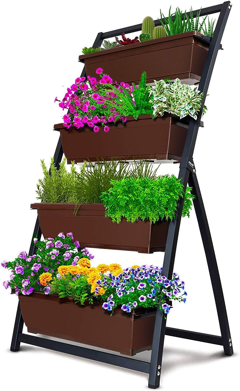 4-Feet Freestanding Elevated Garden Bed