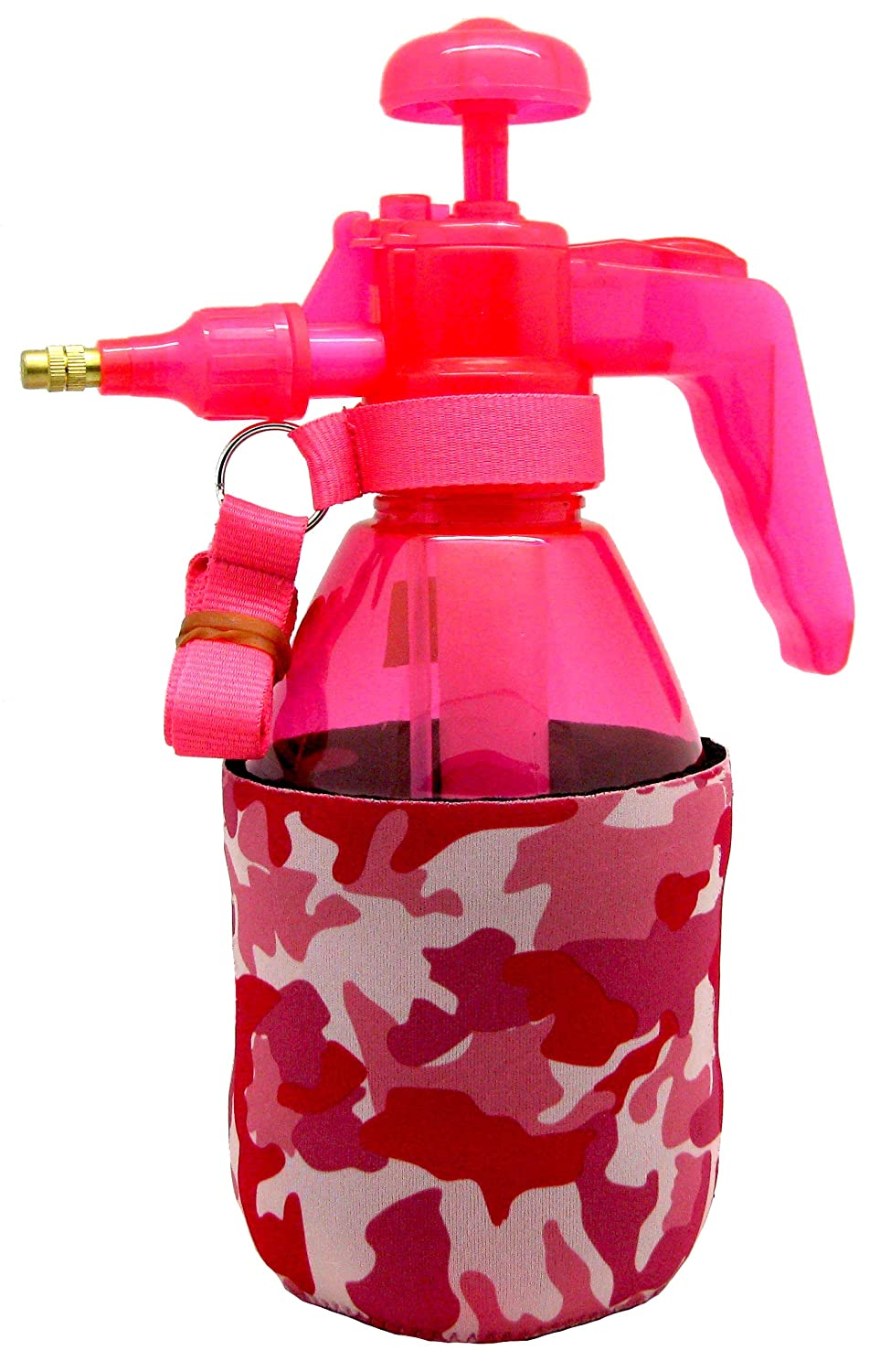 Personal Pump Mister with Pressure Relief Handle and Neoprene Sleeve Pink Camo PB Misters Mister Chill