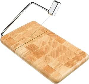 "Prodyne 126-B Bamboo Cheese Slicer Butcher Block End Grain 9 1/2"" x 6"" End Grain Beechwood"