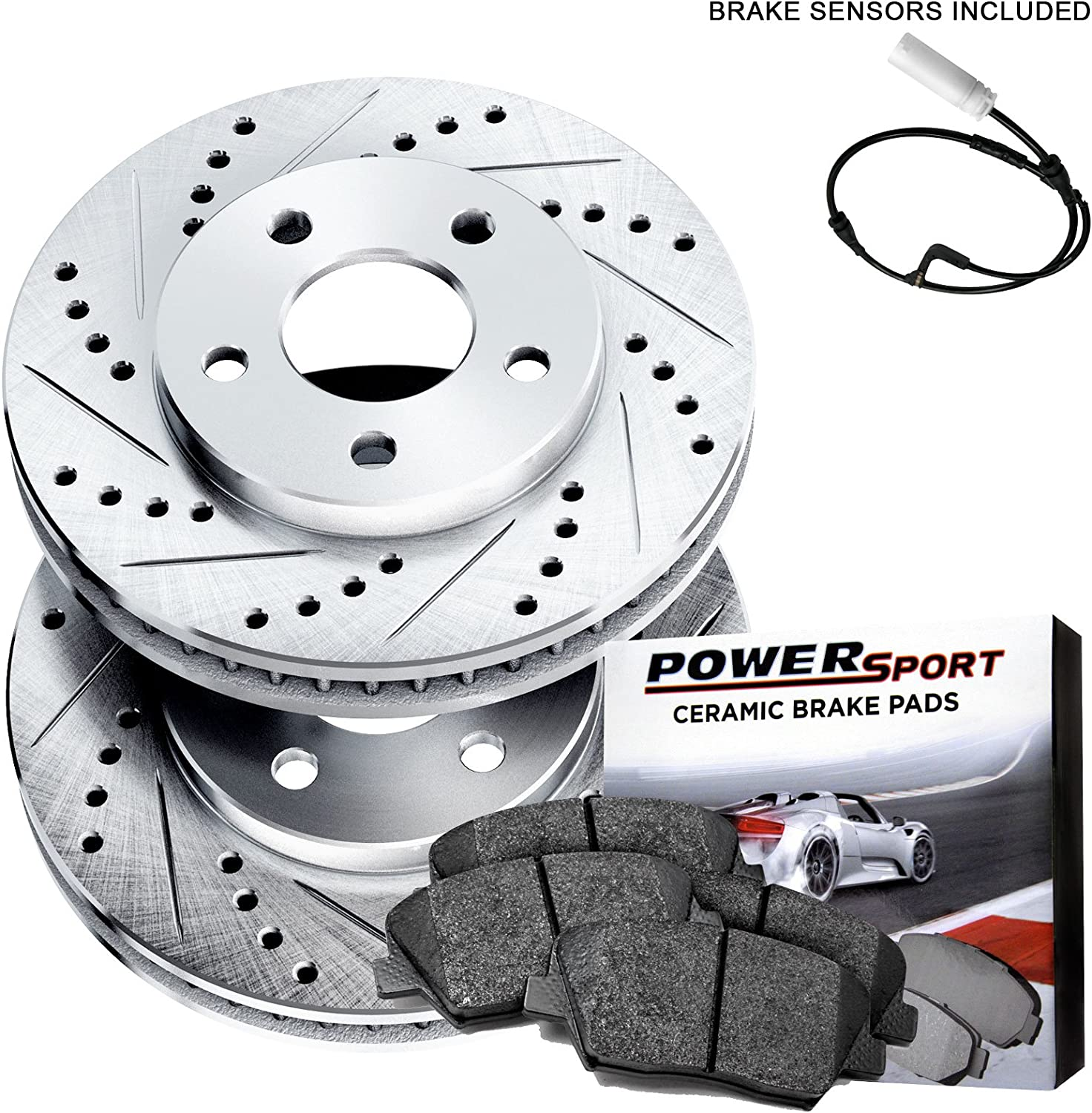 Front and Rear Brake Rotors /& Ceramic Pads For BMW E90 328XI 328I