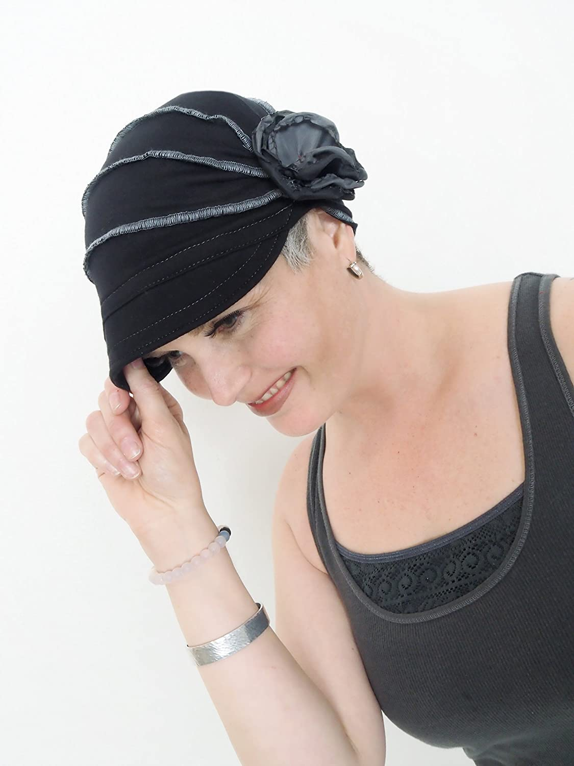 Cancer Hat for Women, Cozy Cap for girls Grey Chemo Beanie Women Fashion Hat Old Fashion Handmade by Muluk Cotton Chemo Hat