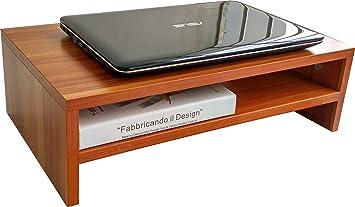 EVST Soporte de madera para ordenador portátil, TV, elevador de pantalla, organizador de escritorio