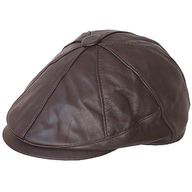 06c3859fe0330 Zeitungsjunge Mütze Flatcap - Newsboy - Bakerboy Genuine 100% Leather Hat -  Flat CapNew Men s Flat Cap Vintage ...