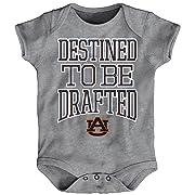 NCAA by Outerstuff NCAA Auburn Tigers Newborn & Infant  Destined  Short Sleeve Bodysuit, Heather Grey, 18 Months