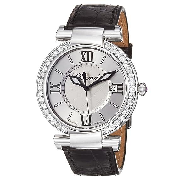 Chopard Imperiale Plata Dial Negro Correa de la mujer diamante reloj 388532 - 3003: Chopard: Amazon.es: Relojes