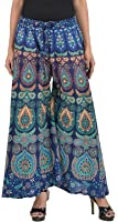 Chanchal Fashion Women's Cotton Palazzon (Plazo1,Blue,Free Size)