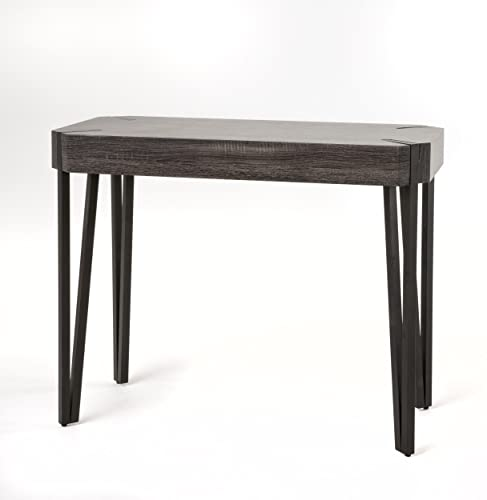 Christopher Knight Home 298288 Vidar Laminated Wood Console Table, Black