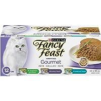 Fancy Feast Wet Cat Food, Gourmet Grilled Pâté Variety Pack 85 g Cans (12 Pack)