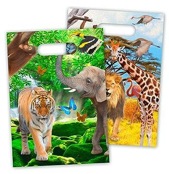 8 Partytuten Safari Wilde Tiere Fur Party Und Geburtstag Von