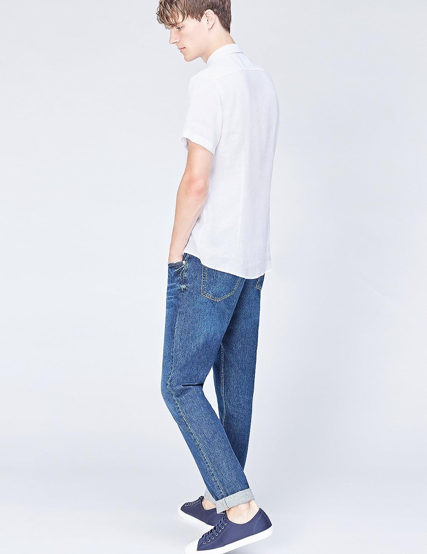 Marke Herren Hemd Short Sleeve Linen find