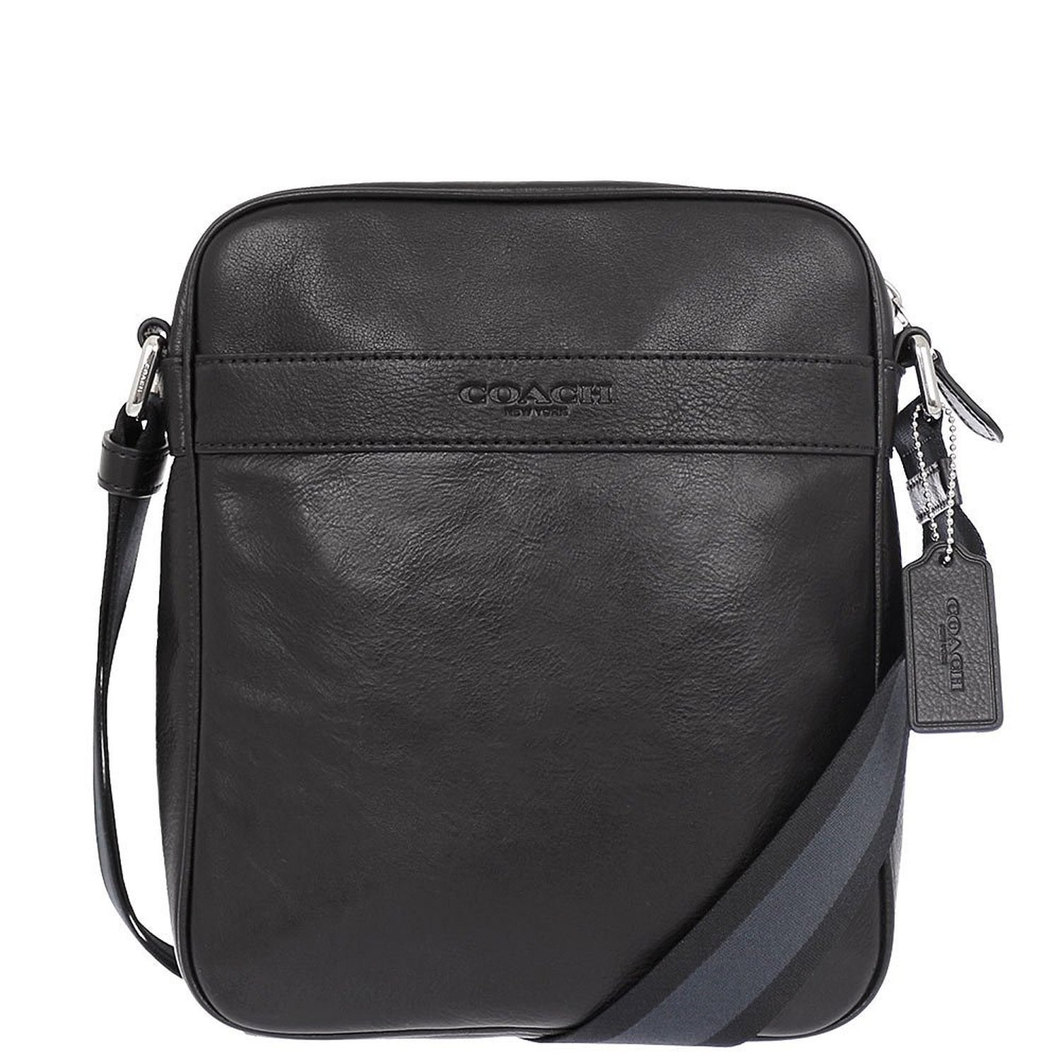Coach Mens Flight Bag Smith Leather Crossbody Bag F54782 Midnight