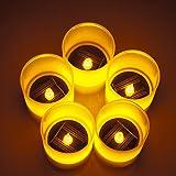 Weanas 5pcs Solar Power LED Light Candles Yellow