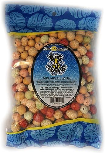 Aloha Gourmet Big Pounder of Mix Mochi Balls 1 pound Jumbo bag