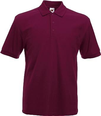 Camiseta tipo polo de manga corta Fruit of the Loom Rojo granate Medium