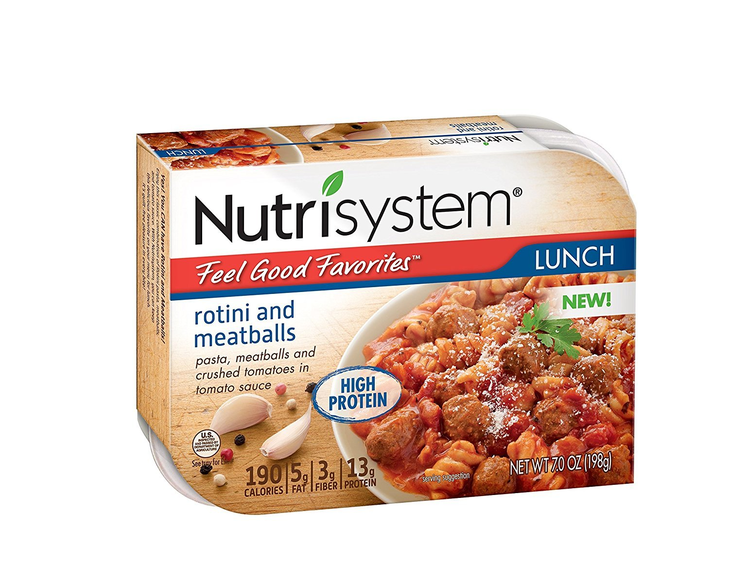 Nutrisystem Feel Good Favorites Rotini and Meatballs, 6 ct LIMITED TIME PROMO