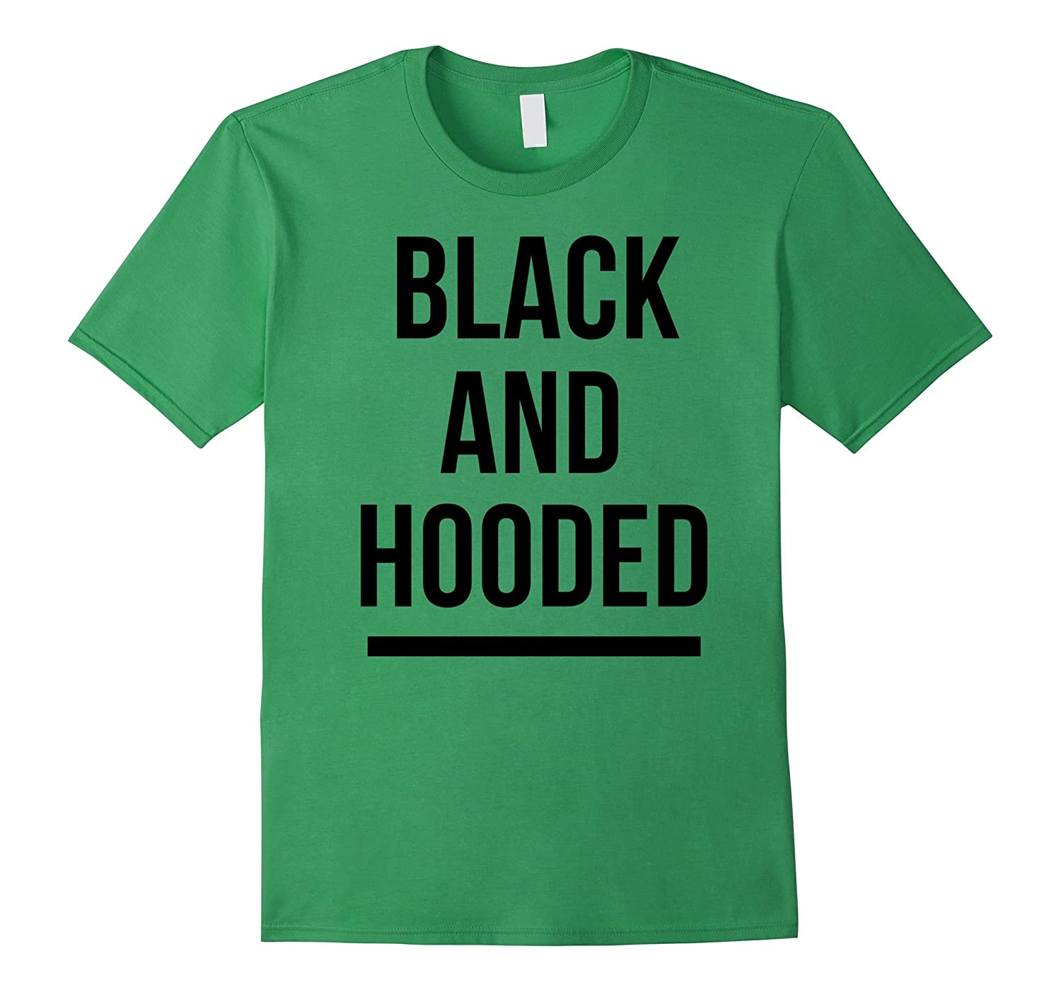 Black and Hooded African American T-shirt for Graduation