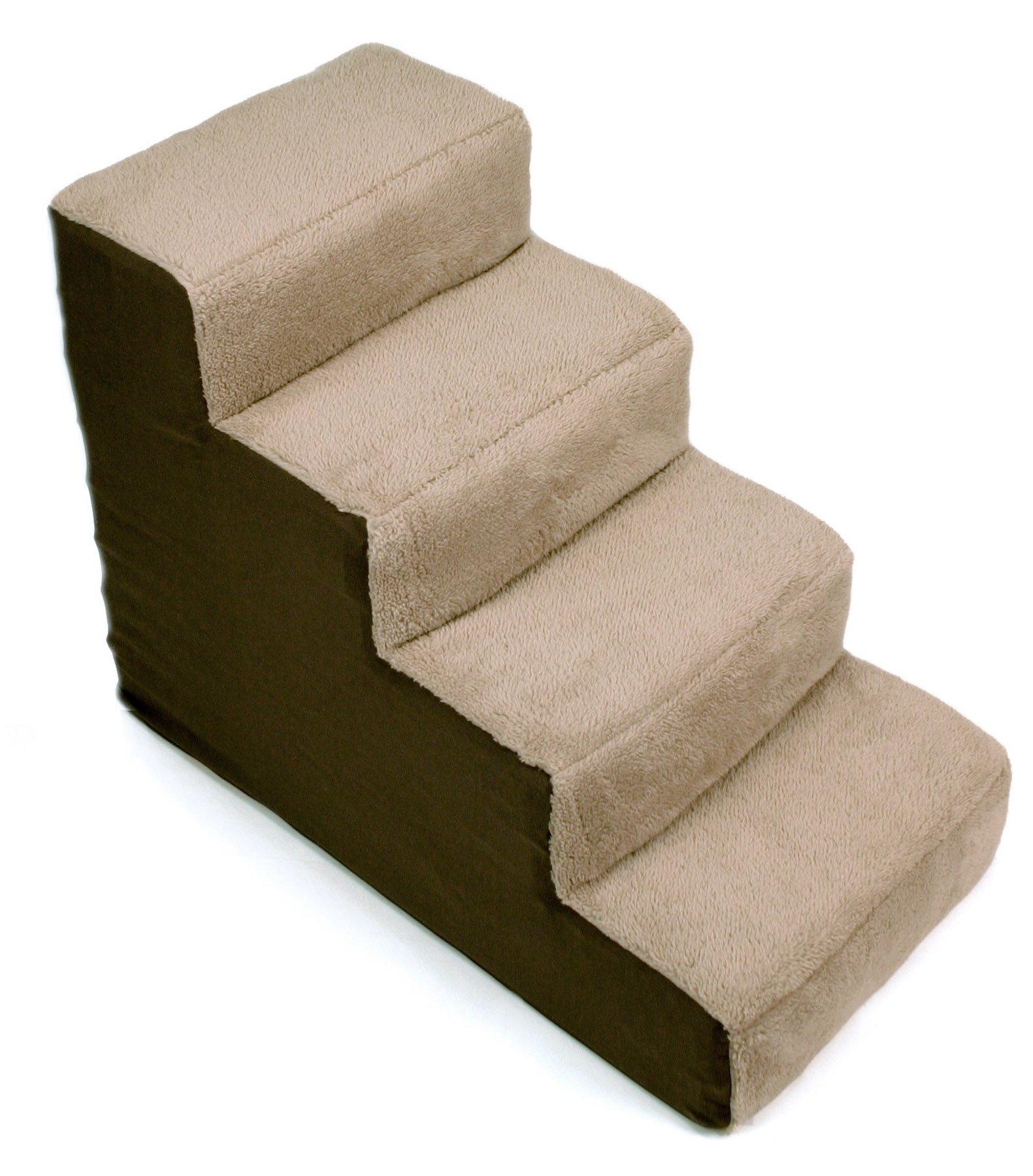 Dallas Manufacturing Co. 4 Step Home Décor Pet Steps, Brown & Tan
