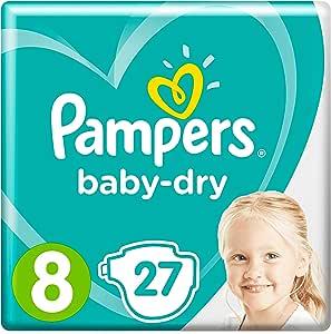 PAMPERS Babydroogmaat 8, 17+ kg, 27 lagen