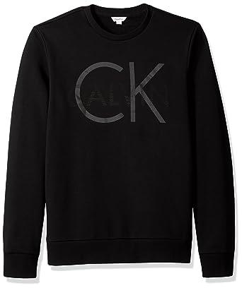 Calvin Klein Men s Long Sleeve Heat Transfer Logo Pullover ... 079e88272d