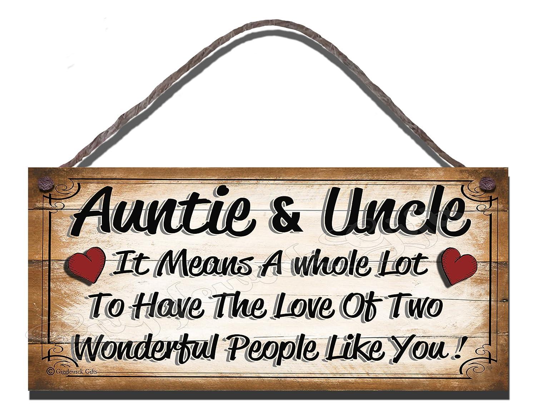 Cartel de madera tía y tío que significa mucho que tienen el ...