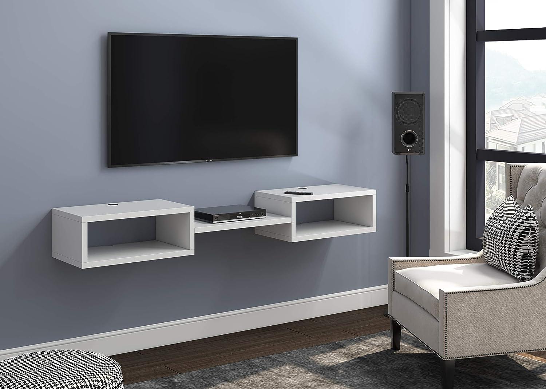 5 - Best premium Floating TV shelf: Martin Double Shelf Wall Mount TV shelf