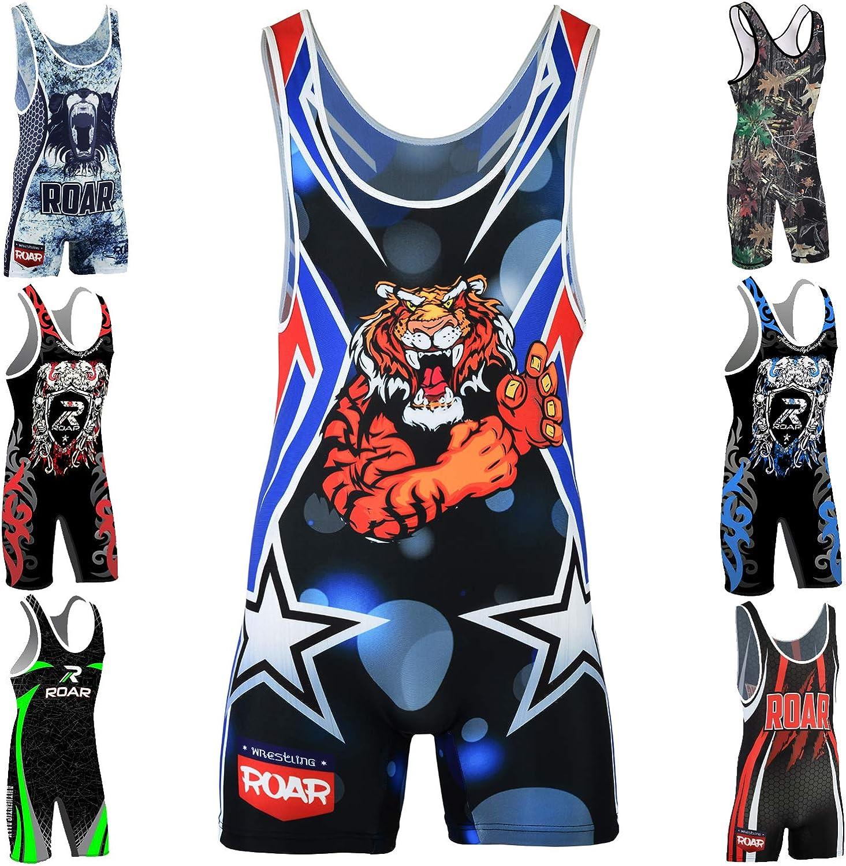 Amazon.com: ROAR Athletic Men's Wrestling Singlet Suit Bodywear Uniform:  Clothing
