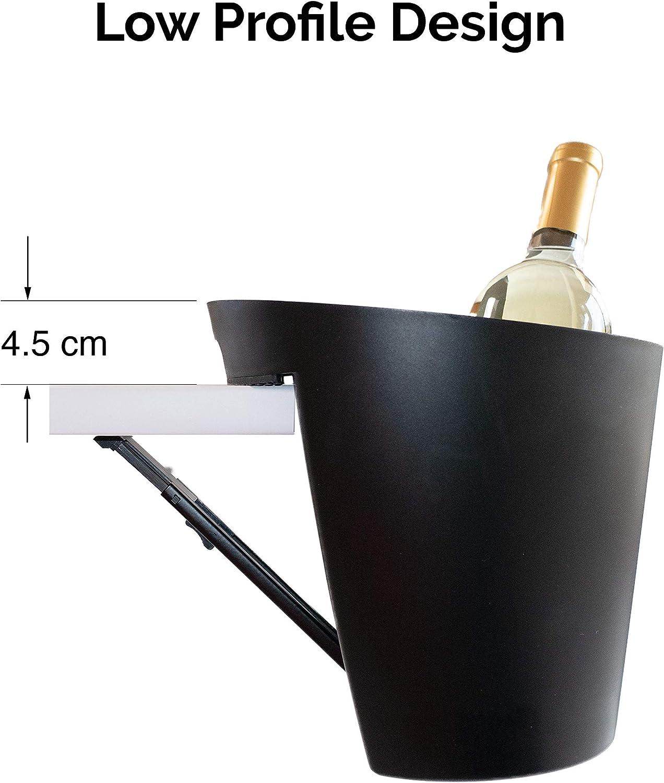 AMICA Seau /à glace /économiseur despace con/çu en France m/écanisme d/économie de conception simple m/écanisme brevet/é r/églable pour une /épaisseur de plateau de table jusqu/à 2 pouces