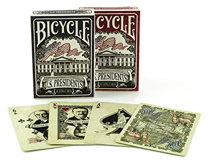 Amazon.com: Bicycle US Presidents Poker Size Standard Index ...