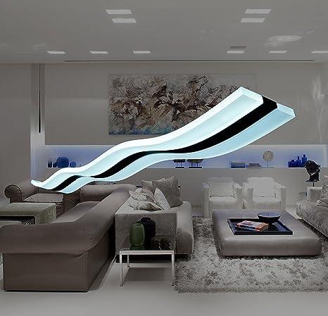 Modern.Place Modern Lighting Wave LED Pendant Light Fixture Ceiling ...
